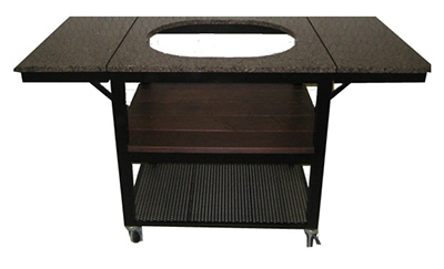 Primo Grills PRM606 Heavy Duty Cart w/ 2-Drop Down Shelves, 3-Top Surfaces & Support Shelf, Stainless