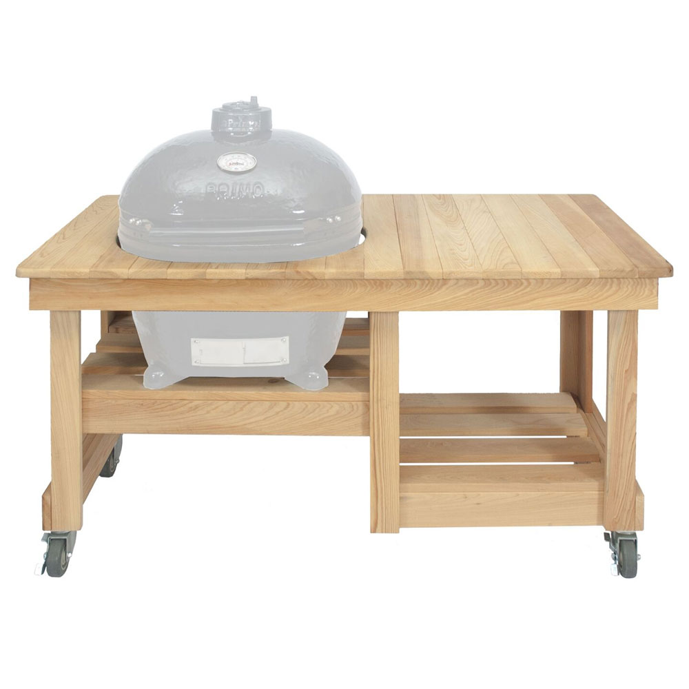 Primo Grills PRM613 Compact Cypress Table For Oval LG-3000 w/ Ceramic Shoes