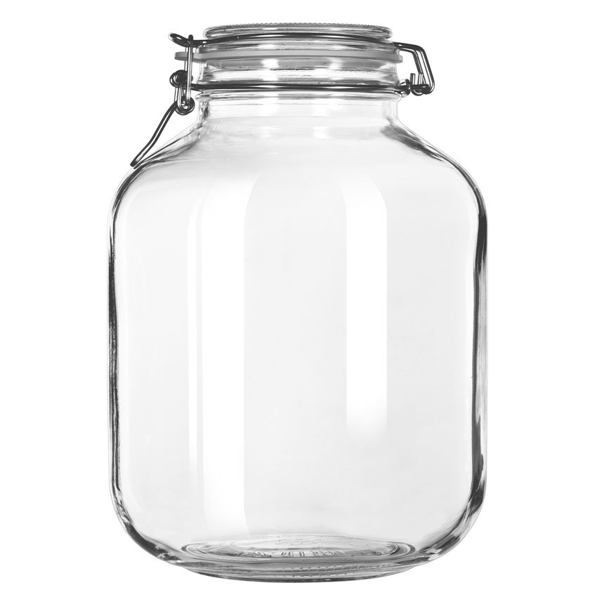Libbey Glass 17214624 143.75-oz Glass Infusion Jar - Clamp Lid, Rubber Seal