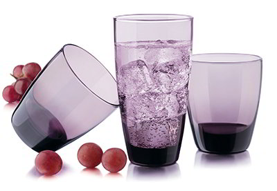 Libbey Glass 31698B7 Classic Grape Set w/ 8-Tumblers & 8- C