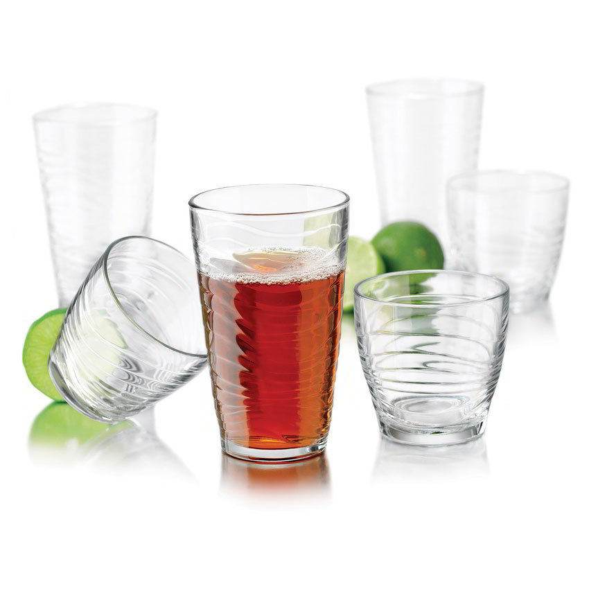 Libbey Glass 55566 Orbita Glassware w/ (8) 17.5-oz Coolers & (8) 11.5-oz Tumblers