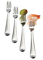 Libbey Glass 56119 12-Piece Just Tasting Appetizer Fork Set