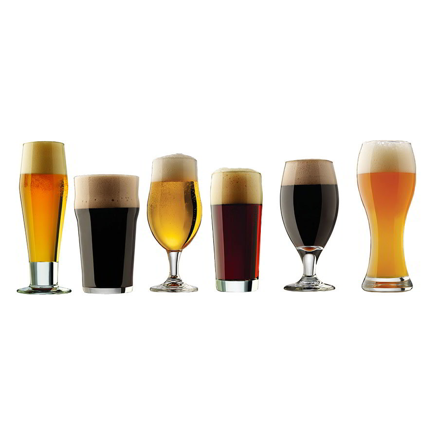 Libbey Glass 80681 Craft Brews Set w/ Pilsner, English Pub, Belgian Ale, Craft Pub, Porter, Wheat Beer Glass