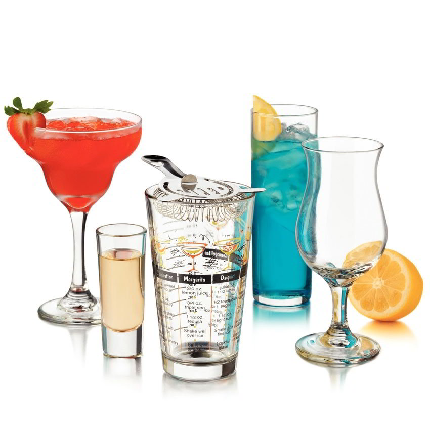 Libbey Glass 81802 Bar in a Box Set w/ 4-Margarita, 4-Pocos, 4-Zombies & 4-Shot Glasses
