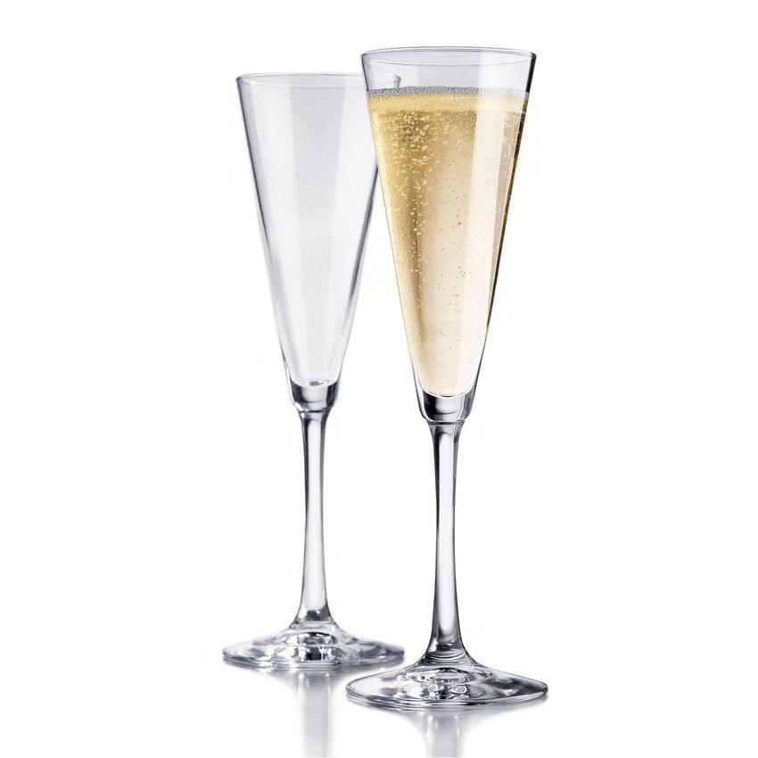 Libbey Glass 89554 Vina Trumpet Flute Set w/ 6-Stemmed Glasses