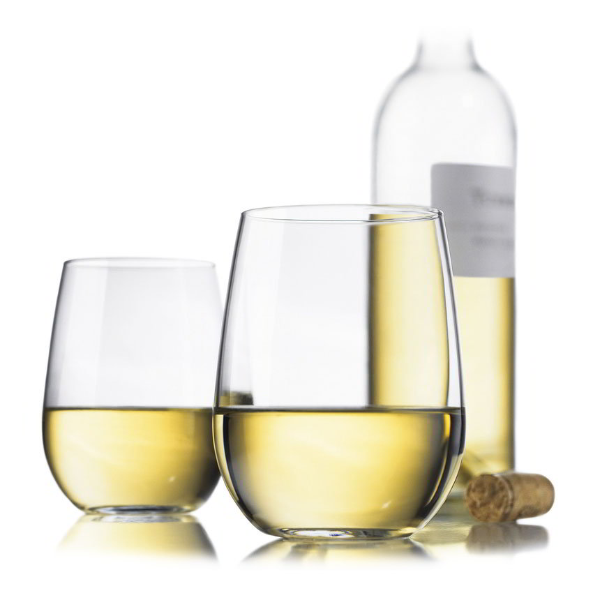 Libbey Glass 89694 Vina White Wine Set w/ 4-Stemless Glasses