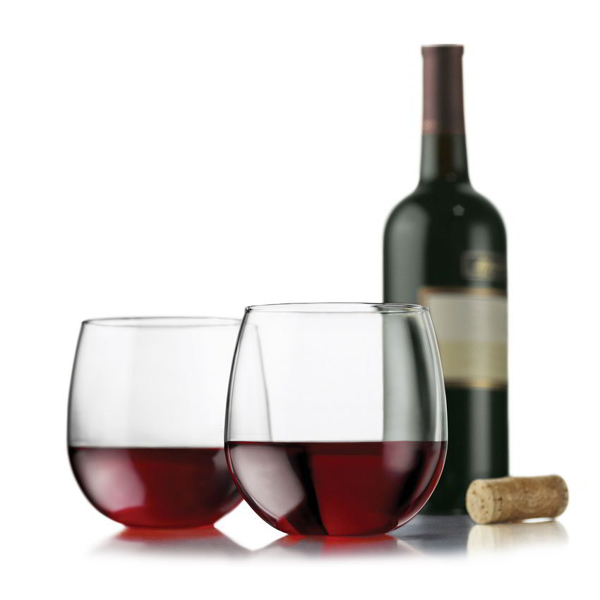 Libbey Glass 89695 Vina Red Wine Set w/ 4-Stemless Glasses