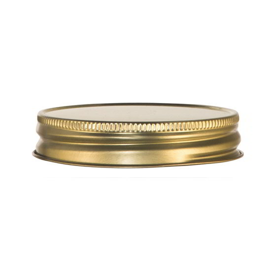 Libbey Glass 92136 Drinking Jar Lid for 16oz Jars, Gold, Metal