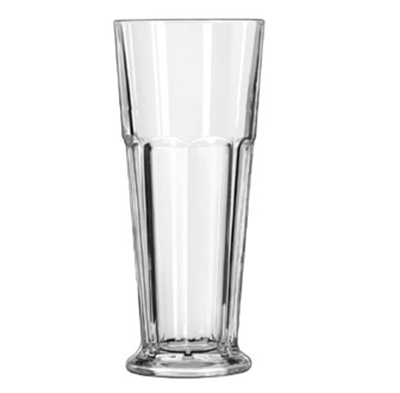 Libbey Glass 15673 16.75-oz DuraTuff Gibraltar Footed Pilsner Glass