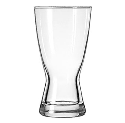 Libbey Glass 181 12-oz Hourglass Design Pilsner Glass - Safedge Rim Guarantee