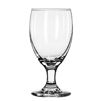 Libbey Glass 3721 10.5-oz Embassy Royale Banquet Goblet Glass - Safedge Rim & Foot