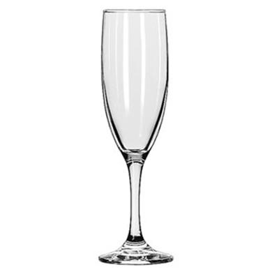 Libbey Glass 3795 6-oz Embassy Flute Glass - Safedge Rim & Fo