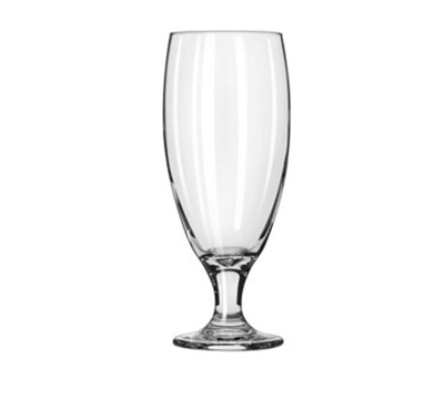 Libbey Glass 3804 16-oz Embassy Pilsner Glass - Safedge Rim & Foot
