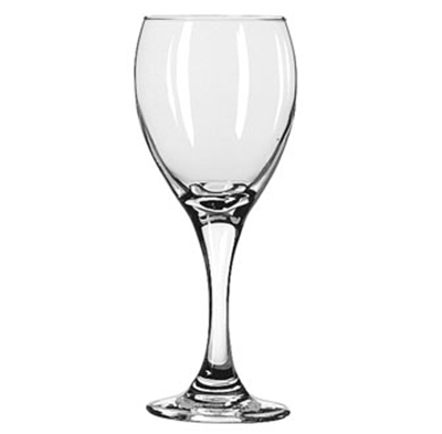 Libbey Glass 3965 8.5-oz Teardrop White Wine Glass - Safedge Rim & Foot Guarantee