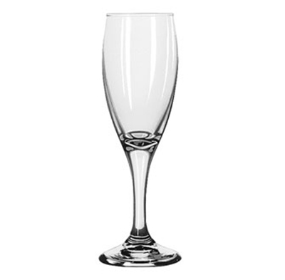 Libbey Glass 3996 5.75-oz Teardrop Flute Glass - Safedge Rim & Foot Guarantee