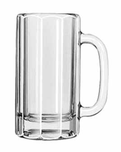 Libbey Glass 5016 12-oz Paneled Mug