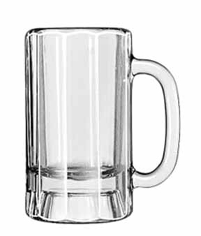 Libbey Glass 5018 14-oz Paneled Mug