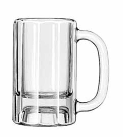Libbey Glass 5019 10-oz Paneled Mug