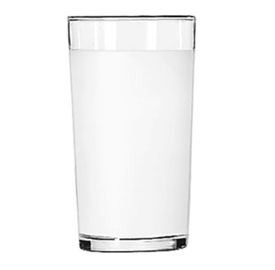 Libbey Glass 53/11680 10-oz Frosted Clear Lip Collins Glass - Safedge Rim