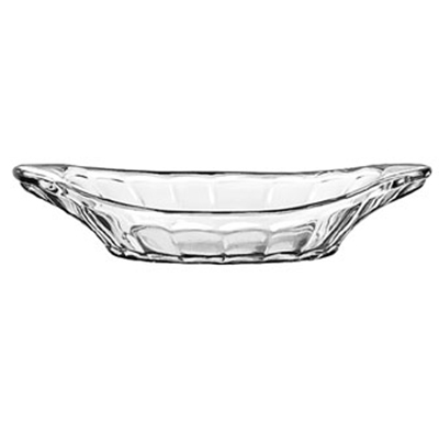 "Libbey Glass 5317 9"" Glass Banana Split Relish Dish"
