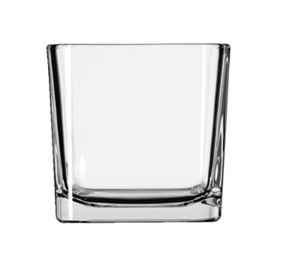 Libbey Glass 5476 22-oz Clear Glass Cube Voltive Candle Holder