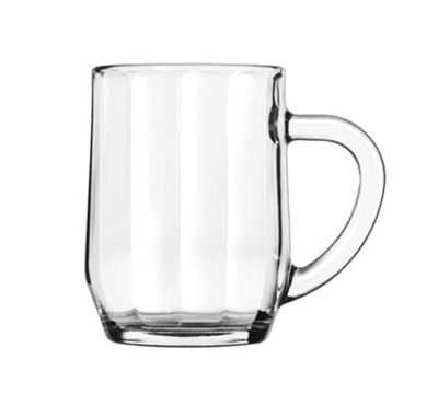 Libbey Glass 5725 10-oz All Purpose Glass Optic Mug