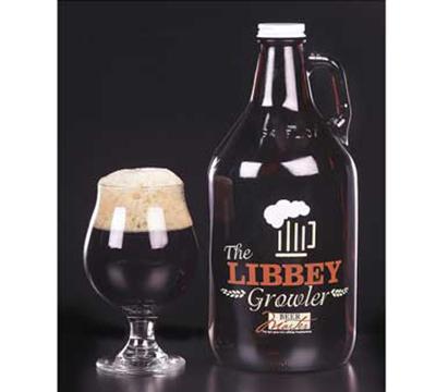 Libbey Glass 70217 64-oz Amber Growler w/ Li