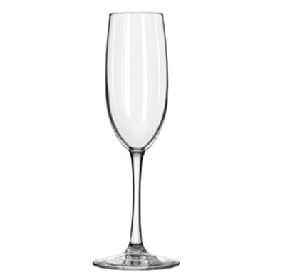 Libbey Glass 7500 8-oz Vina Flute Glass - Safedge Rim and Foot Guarantee