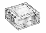 Libbey Glass 75186 5-oz Square Glass Jewelry Box