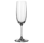 Libbey Glass 8595SR 6-oz Bristol Valley Flute Glass - Sheer Rim