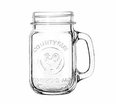 Libbey Glass 97085 16.5-oz County Fair Drinking Jar