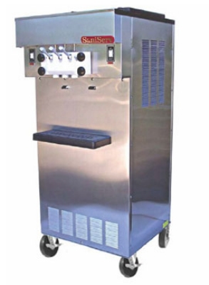 Saniserv 521-SERVE Soft Serve/Yogurt Twist Freezer, 2-Heads, (2) 1-HP, 208-230/60/3 V