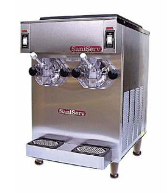 Saniserv 691-FREEZER Counter Shake Dispenser, 2 Head, 1 HP Compressor, 208-230/60/3, NSF