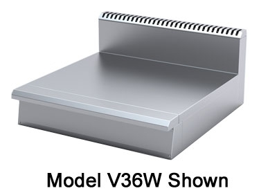 Viking Commercial V36W 36-in Range, Stainless Steel Front, Sides & Top, Welded Construction