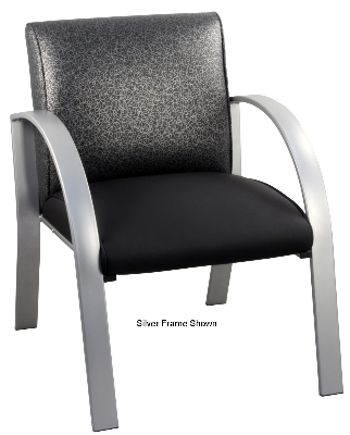 Ergocraft E-18910-BF Symphony Reception Chair w/ Black Frame & High Density Foam, 28 x 25 x 27-in