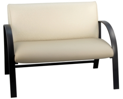 Ergocraft E-18913-BF Symphony Reception Loveseat w/ Black Frame & High Density Foam, 500-lb Capacity