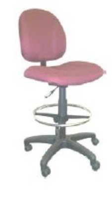Ergocraft E-21721-ST Array Office Stool w/ Small Back & 1-Paddle V Control, Adjustable Height