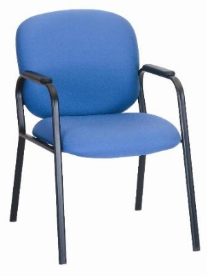Ergocraft E-22420-4L Bayshore Guest Chair w/ Medium Back & Polyurethane Arm Pads, 4-Legged Base