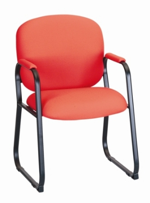 Ergocraft E-22520-SB Bayshore Guest Chair w/ Medium Back & Extra Thick Foam, Sled Base