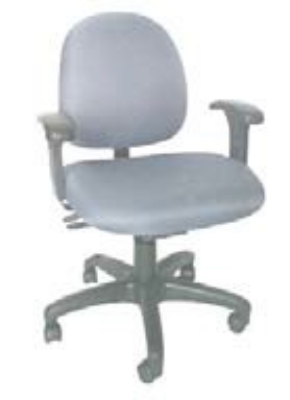 Ergocraft E-31723V Stratus Task Chair w/ Small Back & 3-Paddle V Control, Adjustable Seat