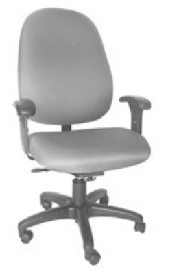 Ergocraft E-31781V Stratus Task Chair w/ High Back & 1-Paddle Task Control, Adjustable Seat