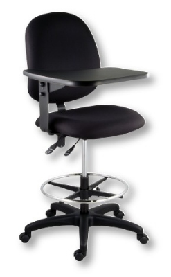 Ergocraft E-31952VST10TAB Institutional Tablet Stool w/ Flip-Away Writing Tablet, Medium Back