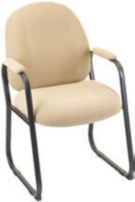Ergocraft E-52850-SB Soft Sit Guest Chair w/ Medium Back & Sled Base, 39.25 x 22 x 22-in
