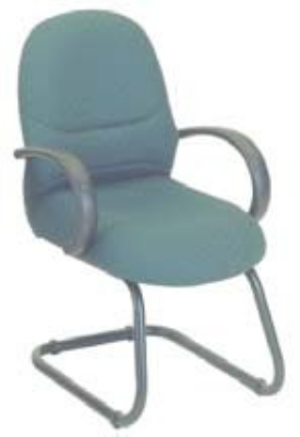Ergocraft E-63150C Rodeo Guest Chair w/ High Back & 1-Paddle Control, Tilt Lock