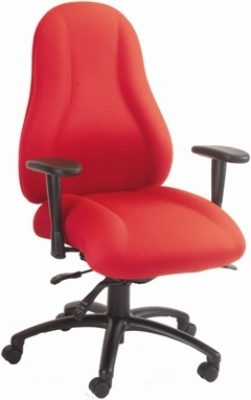 Ergocraft E-85682-BD Atlas Executive Task Chair w/ Headrest & 2-Paddle Control, Adjustable Height