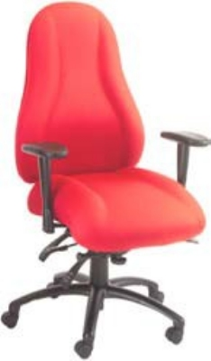 Ergocraft E-85684 Atlas Executive Task Chair w/ High Back & 4-Paddle Control, Adjustab