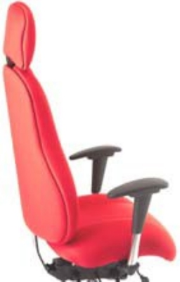 Ergocraft E-85684-BD Atlas Executive Task Chair w/ Headrest & 4-Paddle Control, Adjustabl