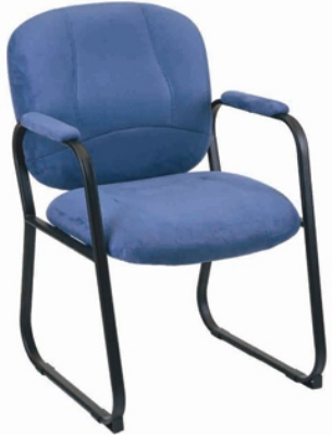 Ergocraft E-96884-SB-A75UA Titan Guest Chair w/ Upholstered Arms & Medium Back, Forward Anti-Tip Caps