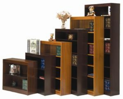 Ergocraft L-13648 48-in Laguna Bookcase w/ 3-Adjustable Shelf, Finished Back Panel