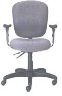 Ergocraft PS-5852-2481XL Cameron Task Chair w/ Medium Back & 2-Paddle Executive Control, Thick Cushion